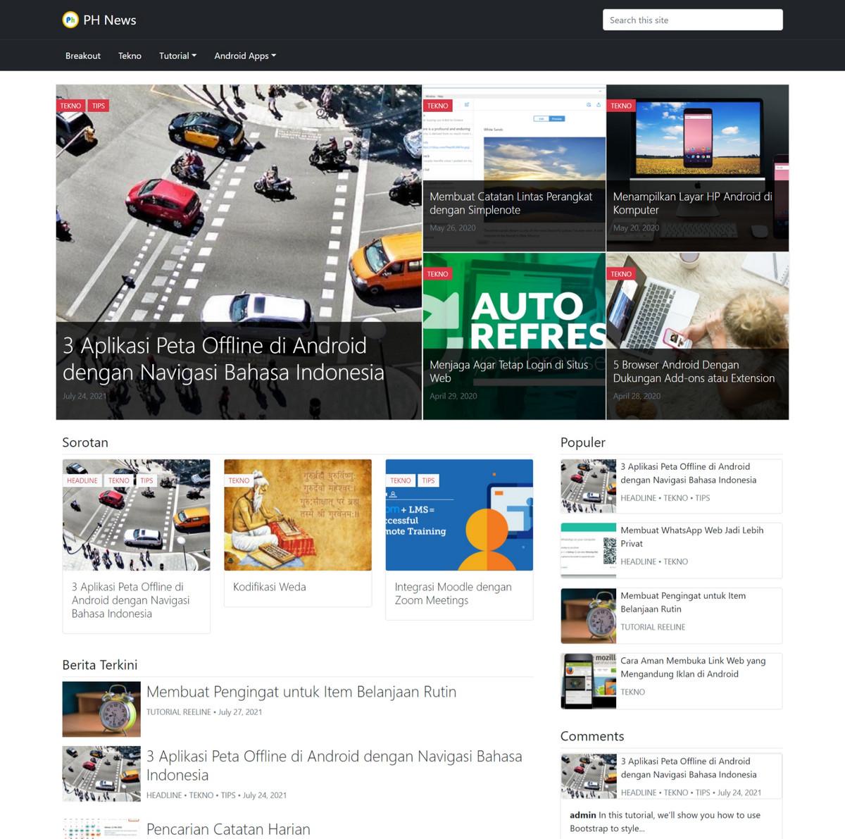 PH News Theme (Wordpress Theme)